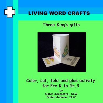 Three King's Gifts 3D Activity for PreK to Gr. 3