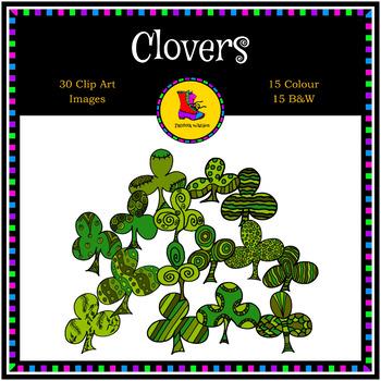 Three Leaf Clover Clip Art