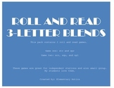 Three Letter Blend Roll and Read Pack