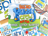 Three Letter Blend Buddy Combo Pack (SCR, SPL, SPR, STR) Cards and Posters