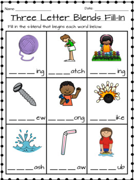 """Three Letter """"S"""" Blends"""