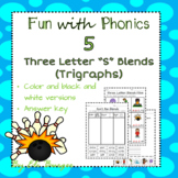 """Three Letter """"S"""" Blends (Trigraphs) - Fun with Phonics!"""