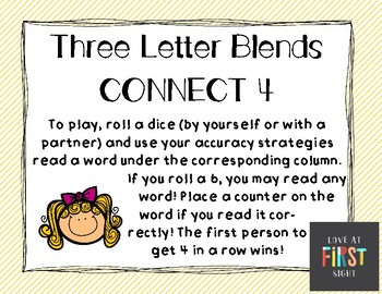 Three Letter Blends Connect 4