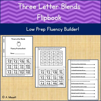 Three Letter Blends Flipbook