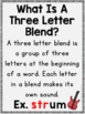 Three Letter Blends Phonics Practice Orton-Gillingham