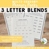 Three Letter Blends Orton-Gillingham Multisensory Phonics Activities