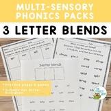 Three Letter Blends Orton-Gillingham Multisensory Phonics