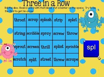Three Letter Blends SmartBoard Activities (spl, str, spr, scr, thr)