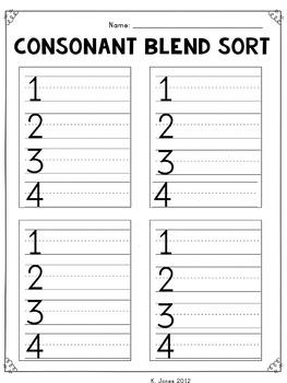 consonant blends word list pdf