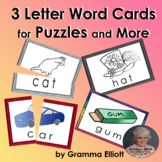Three Letter Picture Word Puzzles Free Sample
