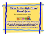 Three Letter Sight Word Board Game