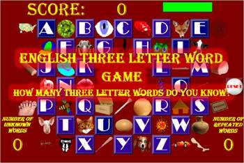 Three Letter Word Game (Windows and Android versions)
