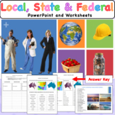 Three Levels of Australian Government- Slides & Worksheet