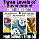 Three Levels of Canada's Government Colour By Code Halloween Edition