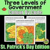 Three Levels of Government in Canada - Colour by Code