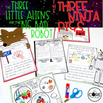 Three Little Aliens & 3 Ninja Pigs Interactive Read- Aloud | Distance Learning
