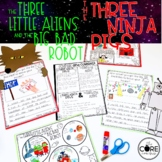 Three Little Aliens & 3 Ninja Pigs Interactive Read- Aloud   Distance Learning