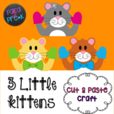 Nursery Rhymes Three Little Kittens Cut and Paste Craft Template
