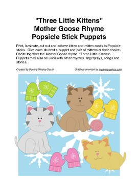 """Three Little Kittens"" Mother Goose Nursery Rhyme Popsicle"
