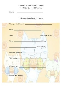 Three Little Kittens Nursery Rhyme