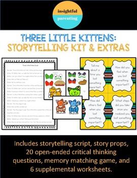 Three Little Kittens Storytelling Kit Minilesson