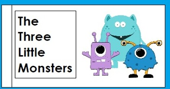 Three Little Monsters Reading Comprehension Game and Activity Book
