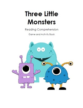 Three Little Monsters Reading Comprehension Game and Activ