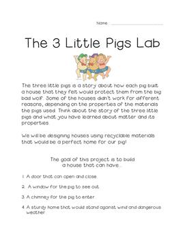 Three Little Pig Lab