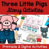 Three Little Pigs - Print & Digital Distance Learning