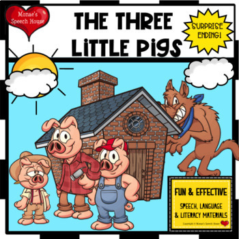 Three Little Pigs Early Reader Literacy Circle