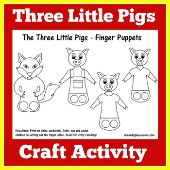 Three Little Pigs Activity   Three Little Pigs Craft   3 Little Pigs Activity