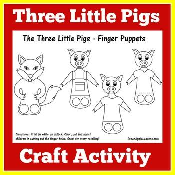 Three Little Pigs Activity | Three Little Pigs Craft | 3 L