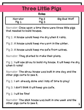 Three Little Pigs: A Reader's Theater Script