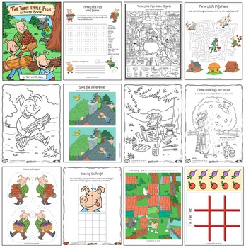 Three Little Pigs Activity Book & Common Core Units