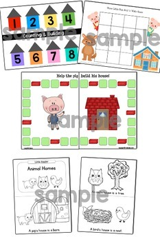 Three Little Pigs: Activity Pack {Pre-K, Preschool}