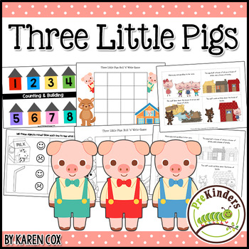 graphic relating to Three Little Pigs Printable known as A few Minimal Pigs: Video game Pack Pre-K, Preschool