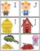 Three Little Pigs Alphabet Match Cards