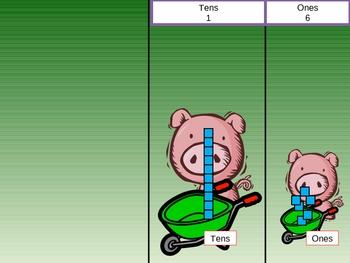 Three Little Pigs Base Ten Lesson PowerPoint