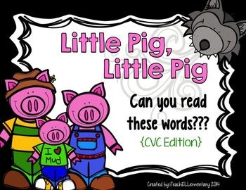 Three Little Pigs CVC Word Game