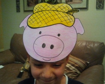 Three Little Pigs Character Hat Patterns