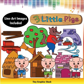 Three Little Pigs Clip Art