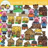 Three Little Pigs Clip Art {Fable Clip Art}
