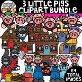Three Little Pigs Clipart Bundle {Reading Clipart}