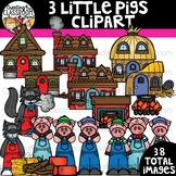 Three Little Pigs Clipart {Reading Clipart}