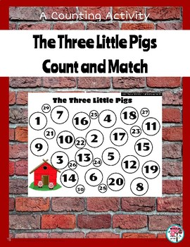 Three Little Pigs Count and Match