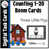 Three Little Pigs Counting 1 - 20 Boom Cards