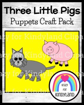 Three Little Pigs Craft Pack for Kindergarten (Fairy Tales)