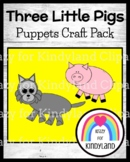 Three Little Pigs Fairy Tale Activity: Character Puppets, Crafts for Retelling