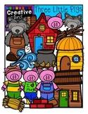 Three Little Pigs {Creative Clips Digital Clipart}