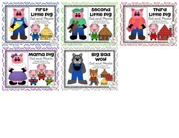 Three Little Pigs Cut and Paste Set